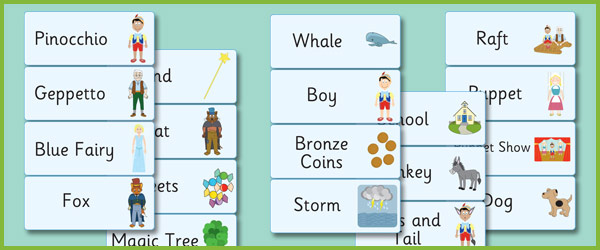 Pinocchio Word Flashcards Free Early Years Amp Primary