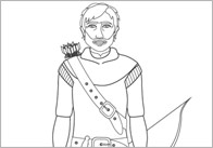 Robin Hood Colouring Sheets