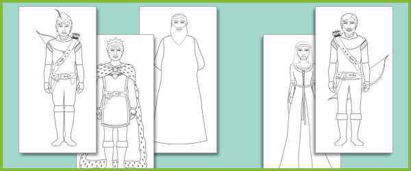 Robin Hood colouring sheets (free story resources) | Free Early ...