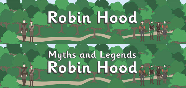 Classroom Interactive Ideas ~ Robin hood display banners free early years primary
