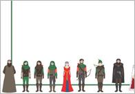 Robin Hood Themed Notepaper