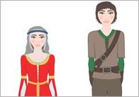 Robin Hood Stick Puppets