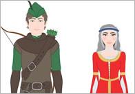 Robin Hood Story Cut Outs