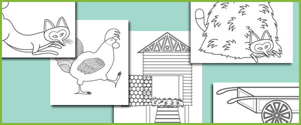 Rosie's Walk Colouring Sheets