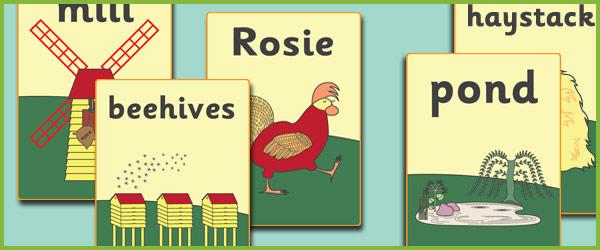 Rosie's Walk A4 Display Posters