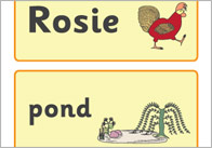 Rosie's Walk Word Flashcards