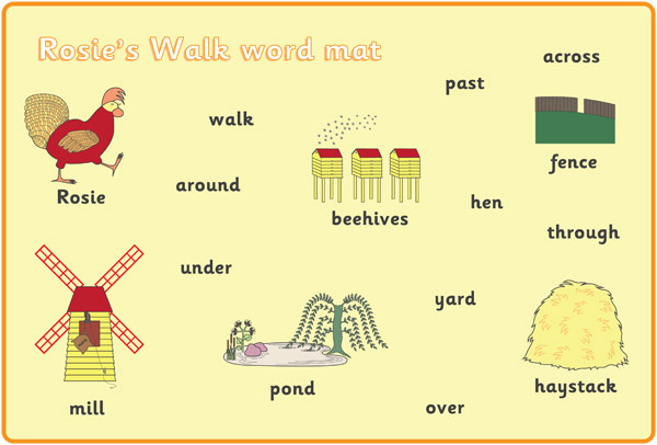 Rosie's Walk A4 Word Mats