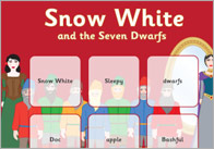 Snow White Bingo Cards