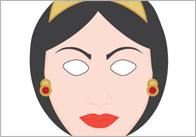 Snow White Role-Play Masks