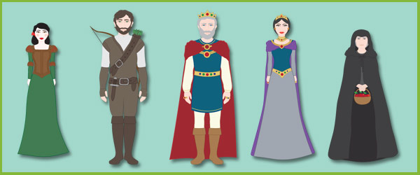 snow white story cut outs  fairy tale teaching resources