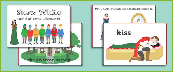 Snow White Story Sequencing Cards