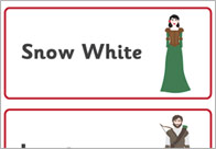 Snow White Word Flashcards