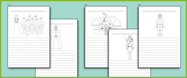Snow White Work Sheets