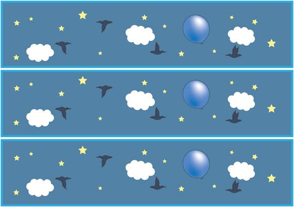 The Blue Balloon Display Borders