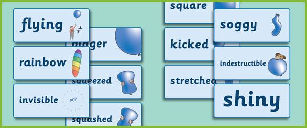 The Blue Balloon Keyword Cards