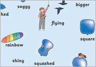 The Blue Balloon Word Mats