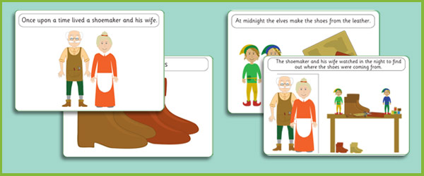 The Elves and the Shoemaker Story Sequencing Cards