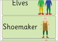 The Elves and the Shoemaker Word Flashcards