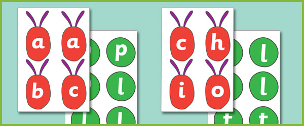 The Very Hungry Caterpillar CVC Game