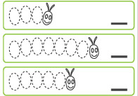 The Very Hungry Caterpillar Counting and Tracing Sheet