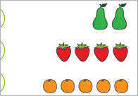 The Very Hungry Caterpillar Fruit and Vegetable Counting Game