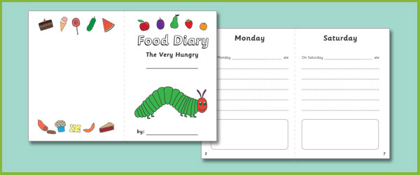 The Very Hungry Caterpillar Food Diary