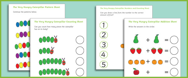 Worksheet 600398 Early Years Maths Worksheets The Very Hungry – Ks1 Worksheets Maths