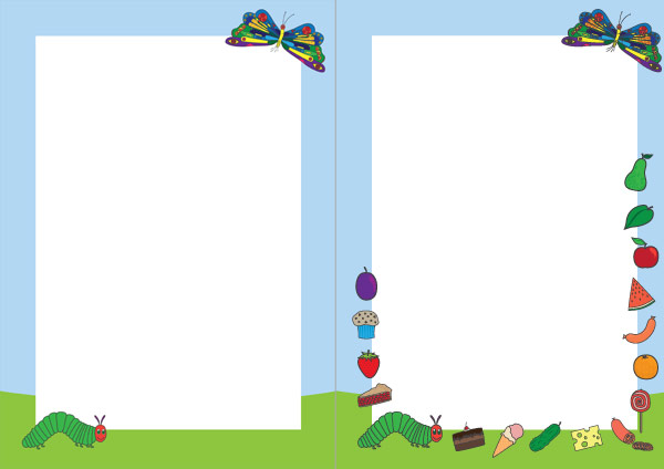 The very hungry caterpillar notepaper teaching resources for Very hungry caterpillar templates free