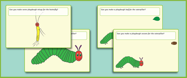 The Very Hungry Caterpillar Playdough Mats
