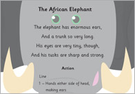 The African Elephant Poem