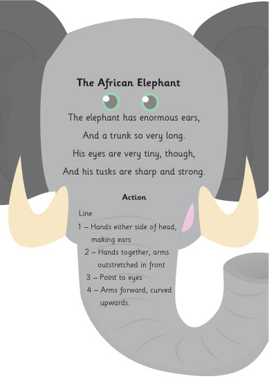The African Elephant Poem : Early Years Poetry : Free ...