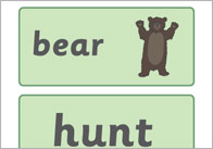 We're Going on a Bear Hunt Word Cards