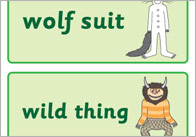 'Where The Wild Things Are' Word Flashcards