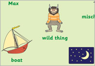 'Where The Wild Things Are' Word Mats