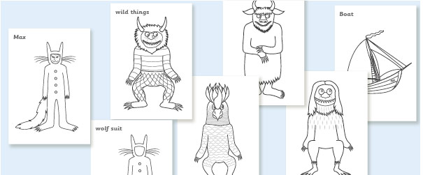 'Where the Wild Things Are' Colourig Sheets