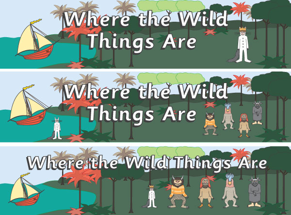 'Where The Wild Things Are' Display Posters / Banners