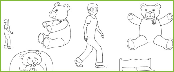 Where's My Teddy? Colouring Sheets