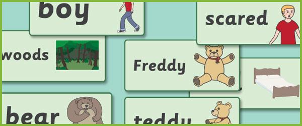 Where's My Teddy? Word Cards