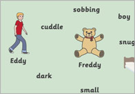 Where's My Teddy? Word Mats