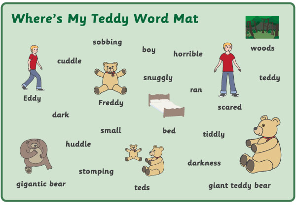 Where S My Teddy Word Mats Free Printable Story