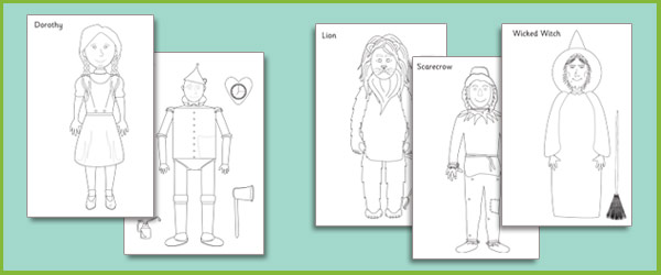 The Wizard of Oz Colouring Sheets