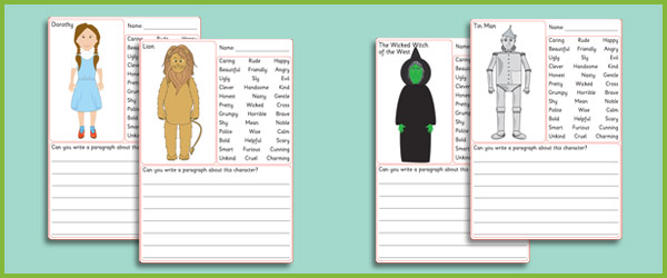 The Wizard of Oz Description Worksheets | Free Early Years ...