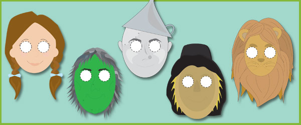 The Wizard of Oz Masks for Role-Play