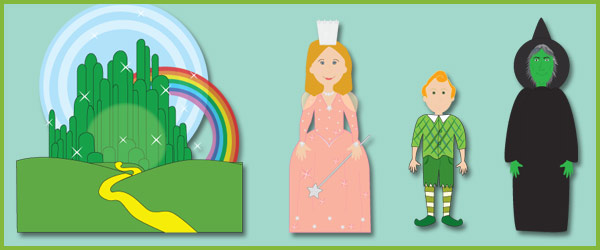The Wizard of Oz Story Character Cut Outs