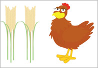 Little Red Hen Story Cut Outs
