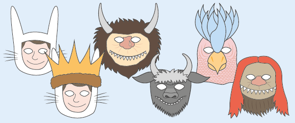 'Where The Wild Things Are' Role-Play Masks