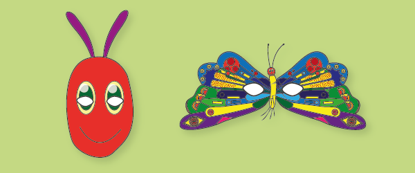 caterpillar mask template the very hungry caterpillar role play masks free early