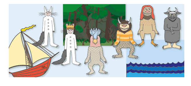'Where The Wild Things Are' Story Cut-Outs
