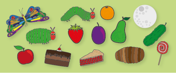 The Very Hungry Caterpillar Story Cut Outs Free Early