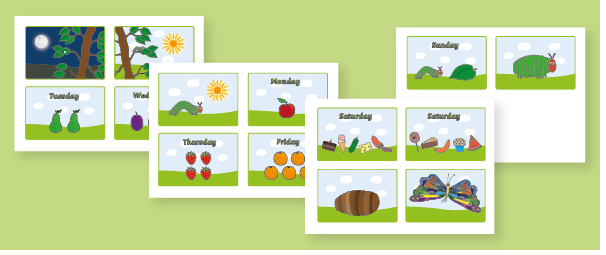 The Very Hungry Caterpillar Story Sequencing Sheets Free Early
